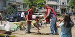 Новыми скамейками обзавелась детская площадка по улице Тухачевского, 26