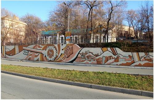 Роспись подпорной стены